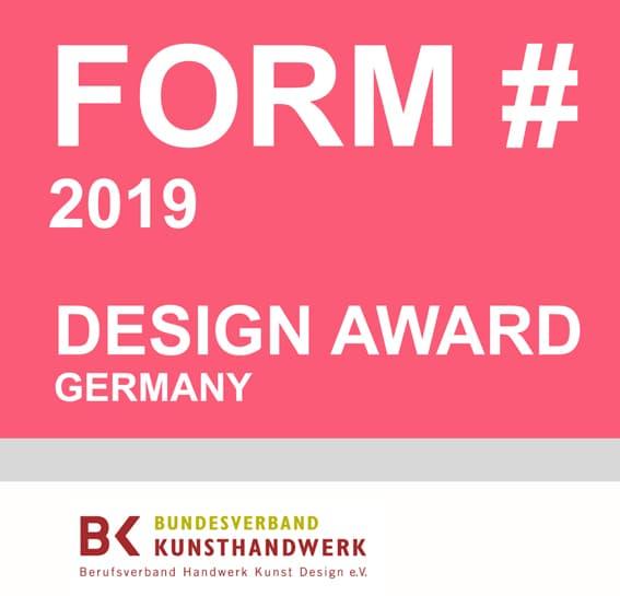 Auszeichnung zum Design Award 2019 durch Form#